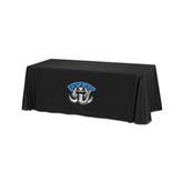 Black 6 foot Table Throw-Arched IPFW with Mastodon