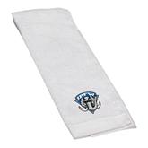 White Golf Towel-IPFW Mastodon Shield