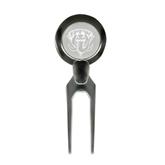 Silver Divot Tool/Ball Marker-IPFW Mastodon Shield Engraved