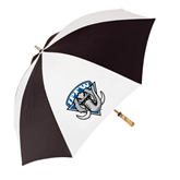 62 Inch Black/White Umbrella-IPFW Mastodon Shield