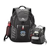 High Sierra Big Wig Black Compu Backpack-IPFW Mastodon Shield