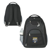 The Ultimate Black Computer Backpack-Primary Athletic Logo