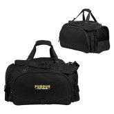 Challenger Team Black Sport Bag-Athletics Primary Wordmark