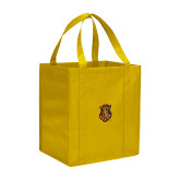 Non Woven Gold Grocery Tote-Crest