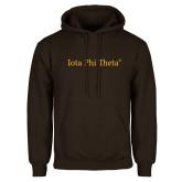 Brown Fleece Hoodie-Iota Phi Theta