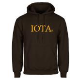 Brown Fleece Hoodie-IOTA - Small Caps