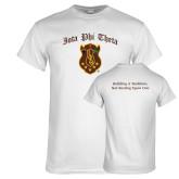 White T Shirt-Iota Phi Theta w/ Crest