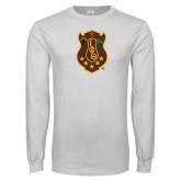 White Long Sleeve T Shirt-Crest