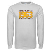 White Long Sleeve T Shirt-Founding Year