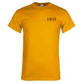 Gold T Shirt-Greek Letters