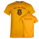 Gold T Shirt-Iota Phi Theta w/ Crest