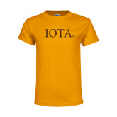 Youth Gold T Shirt-IOTA - Small Caps