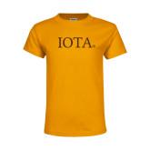 Youth Gold T Shirt-IOTA - Small Caps