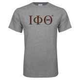 Grey T Shirt-Greek Letters