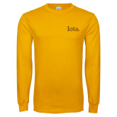 Gold Long Sleeve T Shirt-Iota