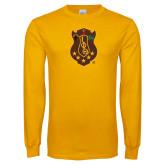 Gold Long Sleeve T Shirt-Crest