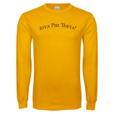 Gold Long Sleeve T Shirt-Arched Iota Phi Theta