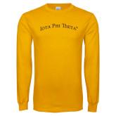Gold Long Sleeve T Shirt-Arched Iota Phi Theta