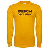 Gold Long Sleeve T Shirt-Rush Iota Phi Theta
