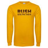 Gold Long Sleeve T Shirt-Rush Iota Phi Theta