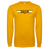 Gold Long Sleeve T Shirt-Top Gun Design