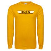 Gold Long Sleeve T Shirt-Top Gun Design