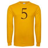 Gold Long Sleeve T Shirt-5