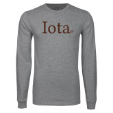 Grey Long Sleeve T Shirt-Iota