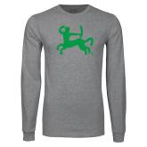 Grey Long Sleeve T Shirt-Centar