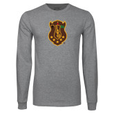 Grey Long Sleeve T Shirt-Crest