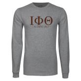 Grey Long Sleeve T Shirt-Greek Letters Alumni Year
