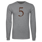 Grey Long Sleeve T Shirt-5