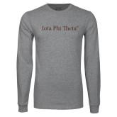 Grey Long Sleeve T Shirt-Iota Phi Theta