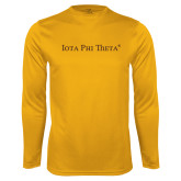 Performance Gold Longsleeve Shirt-Iota Phi Theta - Small Caps
