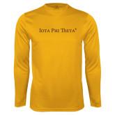 Syntrel Performance Gold Longsleeve Shirt-Iota Phi Theta - Small Caps