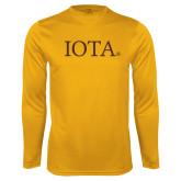 Syntrel Performance Gold Longsleeve Shirt-IOTA - Small Caps