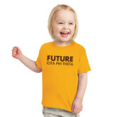 Toddler Gold T Shirt-Future Iota Phi Theta