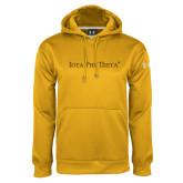Under Armour Gold Performance Sweats Team Hoodie-Iota Phi Theta - Small Caps
