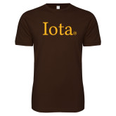 Next Level SoftStyle Brown T Shirt-Iota