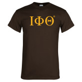 Brown T Shirt-Greek Letters
