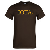 Brown T Shirt-IOTA - Small Caps