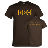Brown T Shirt-Greek Letters