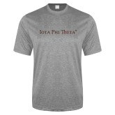 Performance Grey Heather Contender Tee-Iota Phi Theta - Small Caps