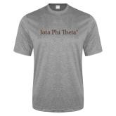 Performance Grey Heather Contender Tee-Iota Phi Theta