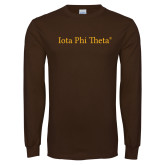Brown Long Sleeve T Shirt-Iota Phi Theta