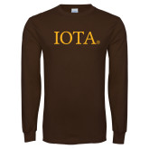 Brown Long Sleeve T Shirt-IOTA - Small Caps