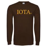 Brown Long Sleeve T Shirt-IOTA - Small Caps