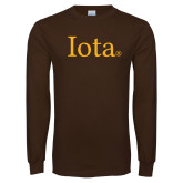 Brown Long Sleeve T Shirt-Iota