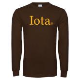 Brown Long Sleeve T Shirt-Iota