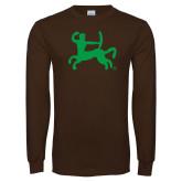 Brown Long Sleeve T Shirt-Centar